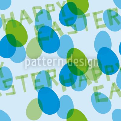 Frohe Ostern Blau Musterdesign