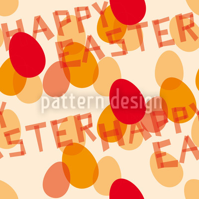 Happy Easter Red Design Pattern