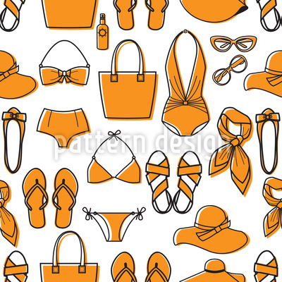 Ready For The Beach Seamless Vector Pattern