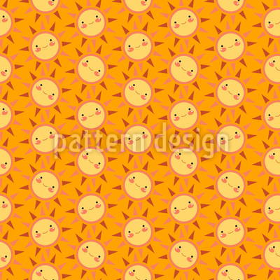 Sunny Funny Repeat Pattern