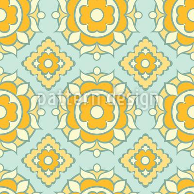 Sonnige Fliesen Muster Design
