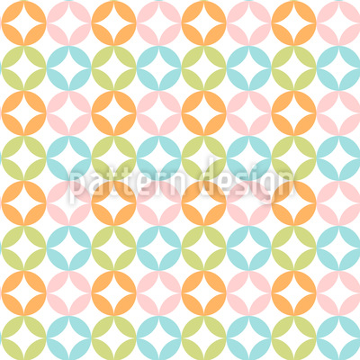 Harlequin Dots Vector Ornament