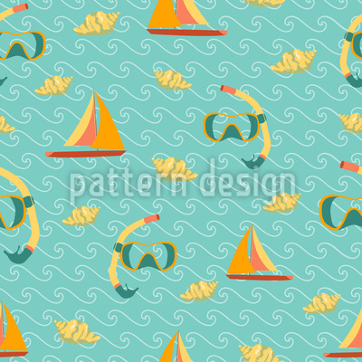 Ocean Fun Seamless Vector Pattern