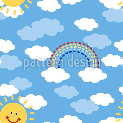 Sonnenschein Und Regenbogen Vektor Muster