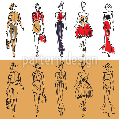 Models auf dem Catwalk Musterdesign