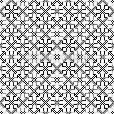 Maurisches Gitterwerk Musterdesign