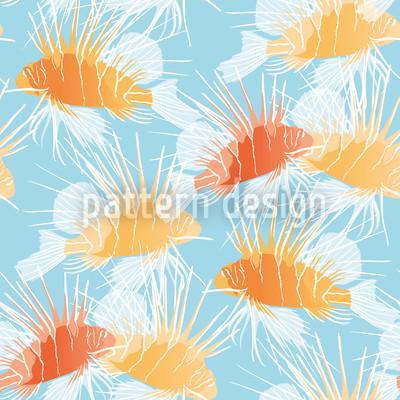 Rotfeuerfische Muster Design