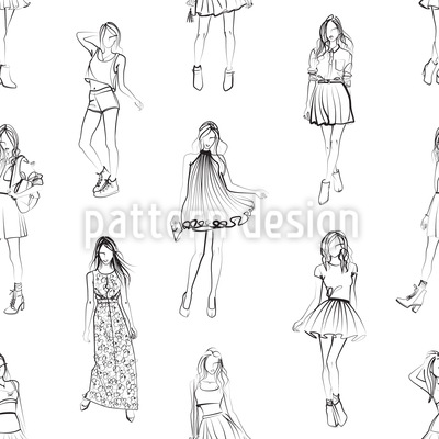 Damen Modewelt Muster Design