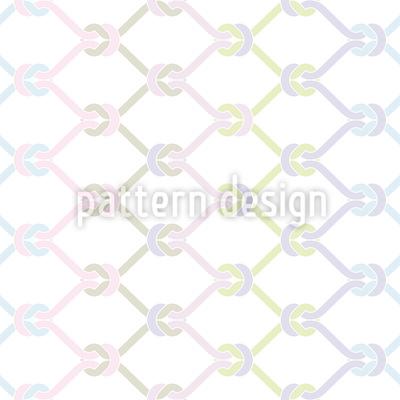 Geknotetes Fischernetz Vektor Muster