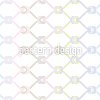 Knotted Fishing Net Vector Pattern