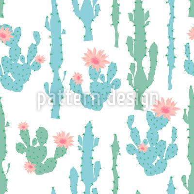 Blühender Kaktus Muster Design
