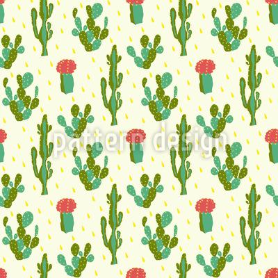 Wüsten Kaktus Vektor Ornament