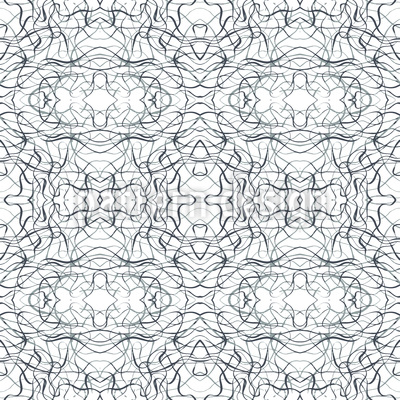 Kalligrafisches Geflecht Nahtloses Vektor Muster