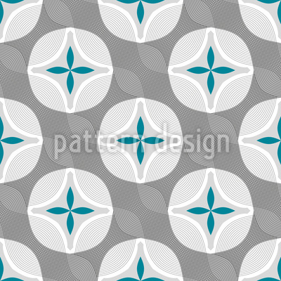 Flower Wave Vector Pattern