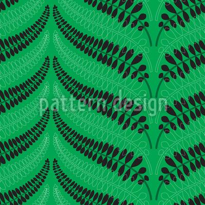 Fern Leaves Chevron Design Pattern