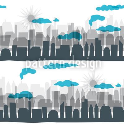 Skyline Nahtloses Vektor Muster