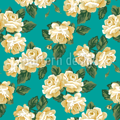 Vintage Rose Bouquet Repeating Pattern