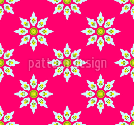 Flowers From India Seamless Pattern