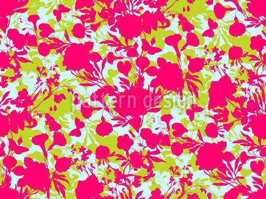 Scherenschnitt Flora Nahtloses Vektor Muster