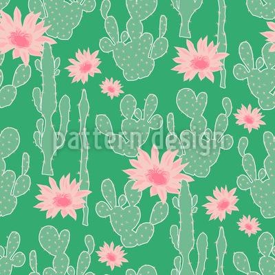 Kaktus Blüte Vektor Muster