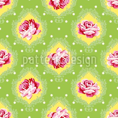 Rose Damask Repeating Pattern