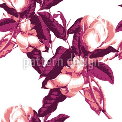 Magnolien Opulenz Nahtloses Vektor Muster