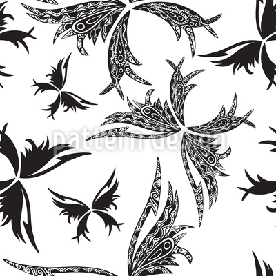 Tattoo Papillon Repeat Pattern
