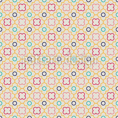 Retro Quatrefoil Vector Pattern