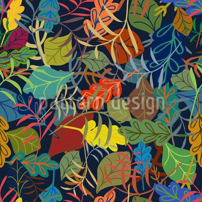 Traum Von Blättern Muster Design