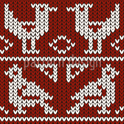 Knitted Birds Seamless Pattern
