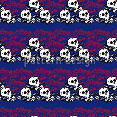 Skully Blau Vektor Muster