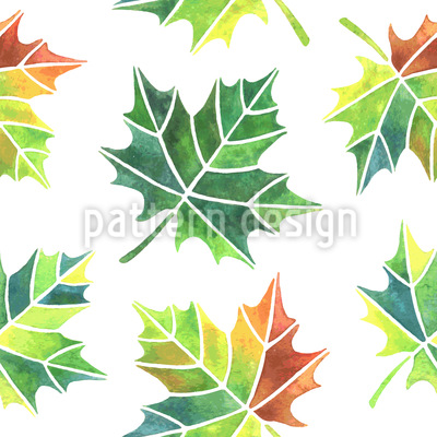 Turning Leaves Vector Pattern