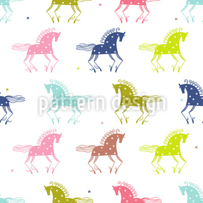 Wild Horses Vector Ornament