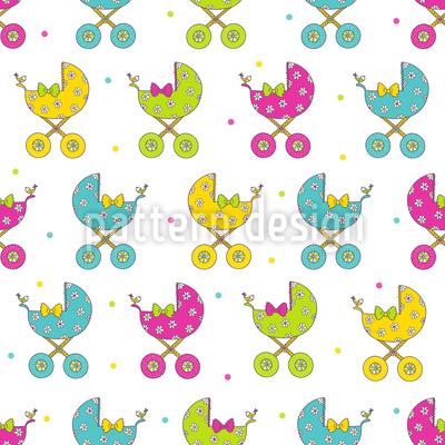 Kinderwagen Parade Vektor Muster