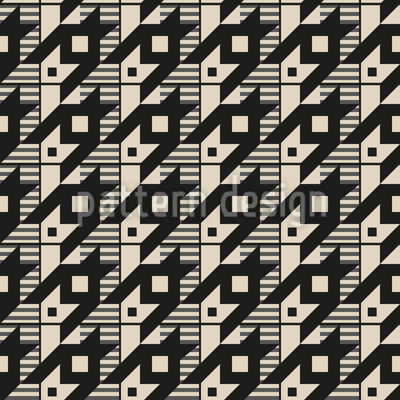 Hahnentritt Variante Nahtloses Vektor Muster