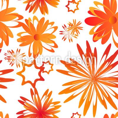 Drehende Blumen Muster Design