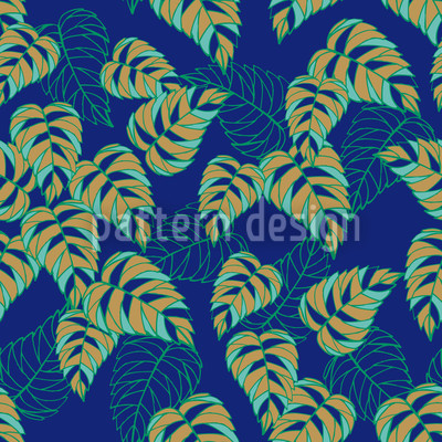 Birch Leaf At Night Design Pattern