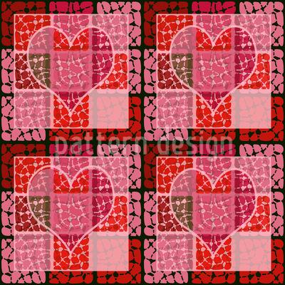 Herz Zum Quadrat Vektor Muster
