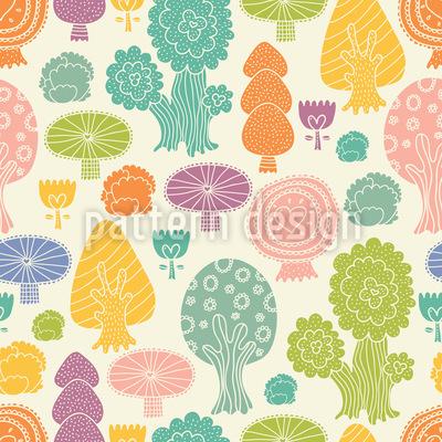 Magischer Wald Muster Design