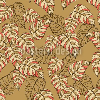 Birch Leaf Beige Seamless Pattern