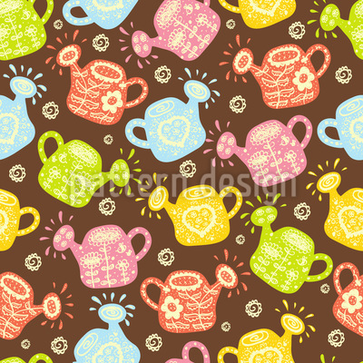 Watering Cans Vector Ornament