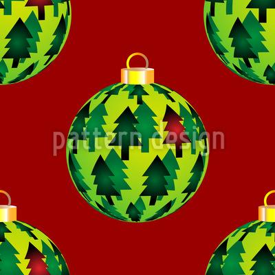 Tannen Weihnachtskugeln Vektor Muster