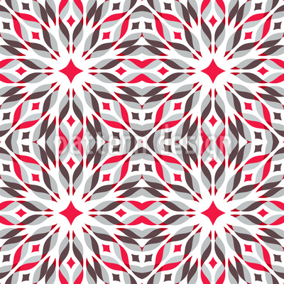 Fire Star Repeating Pattern