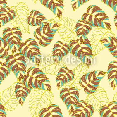 Birch Leaf Yellow Seamless Vector Pattern