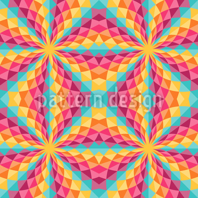 Farbiges Kaleidoskop Designmuster
