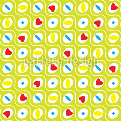 Wellige Kreise Vektor Muster