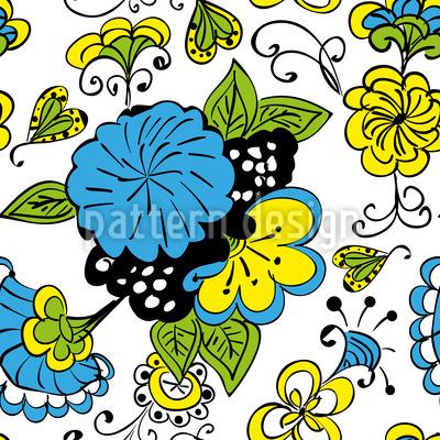 Flower Doodle Vector Ornament