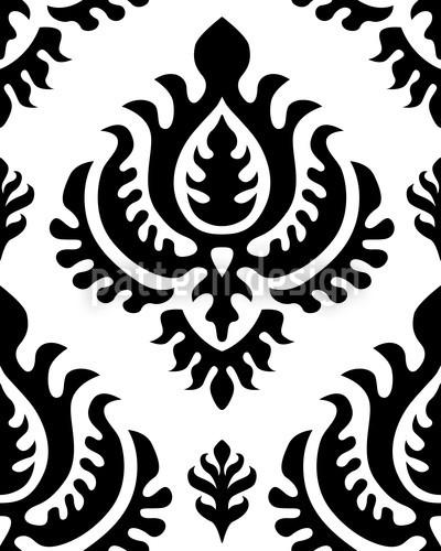 Schwarz Barock Muster Design