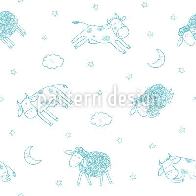 Gute Nacht Meine Freunde Musterdesign