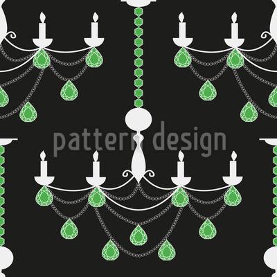 Emerald Chandelier Pattern Design